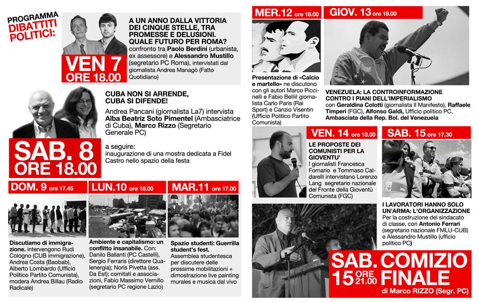 programma festa comunista web